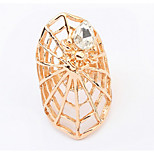 Euramerican Fashion Personalized Rhinestone Spider Web Rings Women's Daily Ring Statement Jewelry