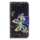 For Huawei P10 Lite P8 Lite (2017) Phone Case PU Leather Material Big Butterfly Pattern Painted P10 P9 Lite P9 Y5 II Honor 6X