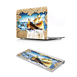 For MacBook Air 11 13 Pro Retina 13 15 Macbook 12 Case Cover PVC Material Oil Painting Sailing Scenery with US Silicone Keyboard Protector