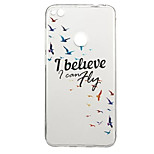 Case for Huawei P10 P8 Lite (2017) Pattern Back Cover Word Phrase Animal Soft TPU P10 Plus