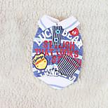 Собака Комбинезоны Одежда для собак На каждый день Мода Английский Красный Синий