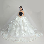 Wedding Dresses For Barbie Doll Dress For Girl's Doll Toy