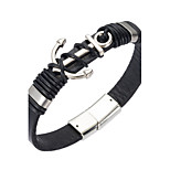 Men's Leather Bracelet Jewelry Natural Fashion Leather Alloy Irregular Jewelry For Special Occasion Gift 1pc