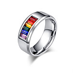 AAA Cubic Zirconia Love Euramerican Classic Stainless Steel Couple Rings Love Jewelry For Wedding Birthday Engagement Valentine