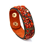 Men's Bangles Jewelry Fashion Punk Leather Alloy Round Jewelry 147 Special Occasion Sports 1pc