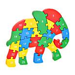Jigsaw Puzzles DIY KIT Building Blocks DIY Toys Elephant Wooden