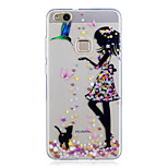 For Huawei P10 Lite P10 Case Cover Pattern Back Cover Case Cat Sexy Lady Soft TPU