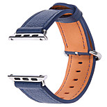 For Apple Watch Series 1 /2 38mm 42mm Leiou Watch Band Strap Genuine leather Solid color Leather Sport Band