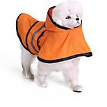 Кошка Собака Дождевик Одежда для собак На каждый день Водонепроницаемый Сплошной цвет Оранжевый Синий