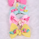 Dog Hair Accessories Dog Clothes Cute Bowknot Blushing Pink Fuchsia Yellow