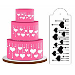 1 Piece Spray Pattern Decorating Tool Cake Plastics Sugar Powder Screen Baking Tool DIY Random Style