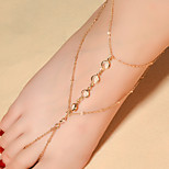 Women's Anklet/Bracelet Crystal Fashion Drop Silver Gold Women's Jewelry For Daily Casual 1pc