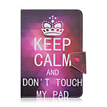 SZKINSTON Crown Don't Touch My Pad Case Shockproof with Stand Sleep Magnetic Pattern Full Body Leather For All 7.0 - 8.0 Inch Mobile Phone or Tablet