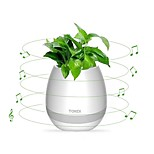 Flowerpot Speaker Wireless Bluetooth 4.0, LED Mood light, Piano Desktop Audio Speaker