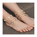 Women's Anklet/Bracelet Imitation Pearl Rhinestone Alloy Fashion Bowknot Jewelry For Daily Casual 1 pcs