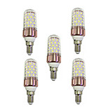 5PCS E14 9W LED Corn Lights 60 SMD 2835 600-680 lm Warm White /White  220V