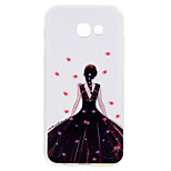 Samsung Galaxy a5 (2017) a3 (2017) telefon esetében fekete ruha lány mintás puha TPU anyag telefon esetében