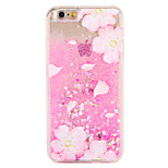 Case for apple iphone 7 7 plus Цветочный блеск сияющий узор текучая жидкость твердый ПК 6 с плюс 6 плюс 6 с 6