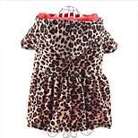 Собака Толстовки Одежда для собак На каждый день Мода Леопардовый принт