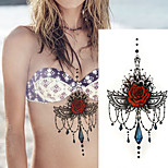 1Pcs Sexy Under Breast Tattoo Hot Sale Ornamental Tattoo Temporary Body Tattoo Sticker