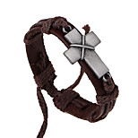 Men's Leather Bracelet Jewelry Natural Fashion Leather Alloy Irregular Jewelry For Special Occasion Gift