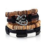 Жен. Муж. Кожаные браслеты Мода Кожа Геометрической формы Бижутерия Для Свадьба Для вечеринок Спорт