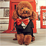 Dog Coat Tuxedo Dog Clothes Cute Casual/Daily Birthday British Black