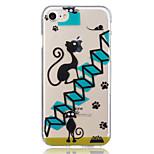 Para apple iphone 7 plus 7 caso de padrão de gato preto caso de capa traseira soft tpu para iphone 6s mais 6 mais 6s 6s 6 5 5s se