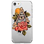 Для iphone 7 плюс 7 обложка для случая экологически чистая прозрачная модель цветок задняя крышка чехол сексуальная леди мультяшный цветок