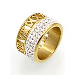 Жен. Для пары Кольцо Классические кольца Массивные кольца ЦирконийКруглый дизайн Уникальный дизайн Геометрический Двойной слой Мода