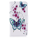 For HUAWEI P10 P9 Lite Case Cover Butterfly Pattern PU Material Card Stent Wallet Phone Case Galaxy 6X Y5II P8 Lite (2017)