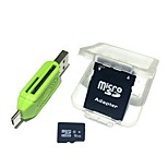 16GB MicroSDHC TF Memory Card with 2 in 1 USB OTG Card Reader Micro USB OTG