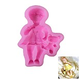 Little Girl Pattern  Candy Fondant Cake Molds  For The Kitchen Baking Molds