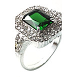 Men's Ring Emerald Unique Design Fashion Euramerican Emerald Alloy Jewelry Jewelry For Wedding Special Occasion Anniversary