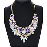 Women's Choker Collar Necklaces Imitation Diamond Round Wings Glass Aluminum Alloy Imitation Diamond Basic Circular Unique Design