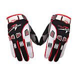 Спортивные перчатки Универсальные Перчатки для велосипедистов Велоперчатки Анатомический дизайн Пригодно для носки Дышащий Полный палец
