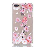 Pour iphone 7plus 7 tpu matériel fleur papillon motif sacoche téléphone 6s plus 6plus 6s 6 se 5s 5