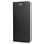 Pour iphone 7 plus 7 housse de protection porte-carte flip carrosserie pleine masse magnétique en cuir solide pu dur pour iphone 6 plus 6s