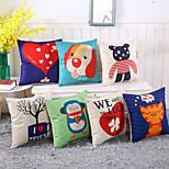 8 Style Cartoon Animal Cotton/Linen Pillow Cover Home & Garden Pillow Case