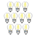 10pcs BRELONG Dimming G45 E27 4W 4LED 300LM Antique Filament Lamp Warm White / White AC22OV Transparent Bulb Light