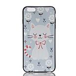 Для яблока iphone 7 7 плюс чехол чехол для тиснения шаблон задняя крышка чехол кошка мягкий tpu для 6 6 с плюс