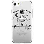 For iPhone 7 Plus 7 Case Cover Eco-friendly Transparent Pattern Back Cover Case Cartoon Word / Phrase Soft TPU for iPhone 6sPlus 6 5s SE 5