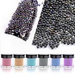 1PC Iridescence AB  Transparent  Glass Beads 10g  Bottled 6 Color