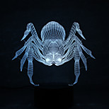 Christmas Spider Touch Dimming 3D LED Night Light 7Colorful Decoration Atmosphere Lamp Novelty Lighting Christmas Light