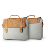 For MacBook Pro Air 11 13  Inch Sleeves Handbags PU Leather Simple Portable Notebook Bag Solid Color Laptop Sleeves 14