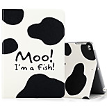 For Apple iPad (2017) iPad Air 2 iPad Air Case Cover with Stand Flip Pattern Full Body Case Cartoon Word / Phrase Hard PU Leather