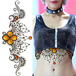 1PC  DIY Big Chest Tattoo Sticker Environmental Fashion Sexy Body Art Sticker Removable Waterproof Temporary Tattoo