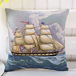1 Pcs Creative Navigation Sailboat Pillow Cover Cotton/Linen Pillow Case
