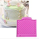 The New Package Decoration Ling Lattice Pattern Printing Liquid Silicone Double Sugar Cake Baking