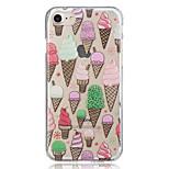 for Apple iPhone 7 Plus 7 Ice cream Translucent Pattern Case Back Cover Case Soft TPU iPhone 6s Plus 6 Plus 6s 6 5 5S SE